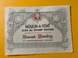 9328 - MOULIN-A-VENT  Clos Du Champ Decour - Bourgogne