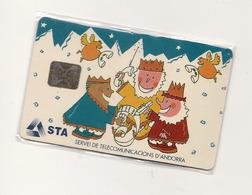 TELECARTE ANDORRA ANDORRE SUR BLISTER NEUVE NOEL 1993 - Andorra