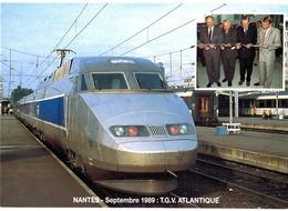 CPM* N°173 - LOT DE 6 CARTES DE NANTES - HOMMES POLITIQUE + T.G.V. + TER INTERLOIRE - Nantes