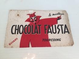 Buvard Ancien CHOCOLAT FAUSTA TOURCOING - Chocolat