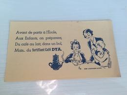 Buvard Ancien CAFÉ DYA DELEPLANCQQUE LA BASSEE - Coffee & Tea
