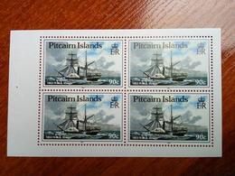 Pitcairn Islands 1990 Sailing Ships Fleet Block Of Four MNH - Stamps