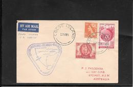 AUSTRALIA-Cocos 1955 Ffc Cocos -Sydney ( Ref.459) - Cocos (Keeling) Islands