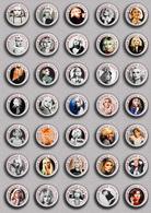 35 X Blondie Band-Deborah Harry Music Fan ART BADGE BUTTON PIN SET 5 (1inch/25mm Diameter) - Music