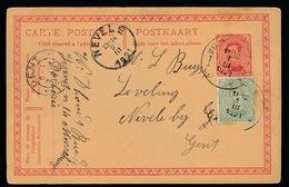 NEVELE - GELE BRIEFKAAR NAAR L.BUYSSE LOVELING VOOR BESTELLING 1921 - 2 SCANS - Nevele
