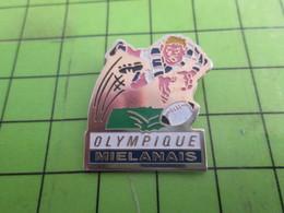 710g Pin's Pins /  Rare & De Belle Qualité : THEME SPORTS / RUGBY CLUB OLYMPIQUE MIELANAIS Pas Le MIELANS A.C. - Rugby