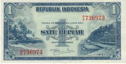 Indonesia 1 Rupian 1951 Pick 38 UNC - Indonesia