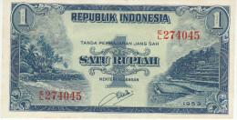 Indonesia 1 Rupian 1953 Pick 40 UNC - Indonesia