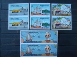 SAMOA 1974 341-344 PAIRS IMPERFORATED / MNH * * / UPU Ship Plane Truck - Samoa