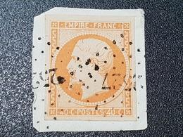 Napoléon III N° 16  Avec Oblitération Losange 2527 Sur Fragment TTB - 1853-1860 Napoléon III.