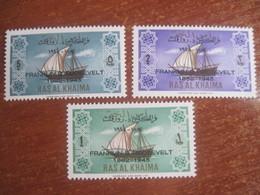 Ras Al Khaima 1965 Ships ROOSEVELT Overprint  MNH - Stamps