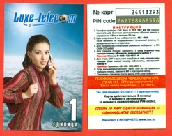 Kazakhstan. Phonecards.Pre-payment Card. Lux Telecom. - Fashion