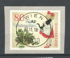 """Österreich 2018: """"Weihnachten - Modern"""" Gestempelt (siehe Foto/Scan) - 1945-.... 2. Republik"""