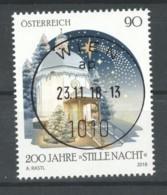 """Österreich 2018: """"Weihnachten - Stille Nacht"""" Gestempelt (siehe Foto/Scan) - 1945-.... 2. Republik"""