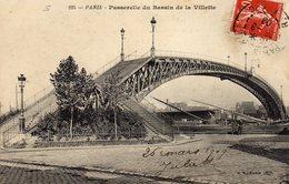 DPT 75 PARIS Passerelle Du Bassin De La Villette - Ponti