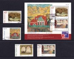 New Zealand 1999 Art - Doris Lusk Set Of 4 + Philex'99 Minisheet Used - New Zealand