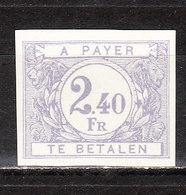 TX59  Chiffre Coloré Sur Fond Blanc - Non Dentelé - Numéro 29 Au Verso - MNG - LOOK!!!! - Imperforates