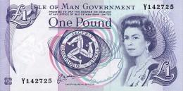ISLE OF MAN 1 Pound (1983) Pick 40b UNC - Isle Of Man / Channel Island