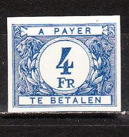 TX61  Chiffre Coloré Sur Fond Blanc - Non Dentelé - Numéro 29 Au Verso - MNG - LOOK!!!! - Imperforates