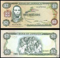 Jamaica 2 Dollars 1993 Pick 69 UNC - Jamaica