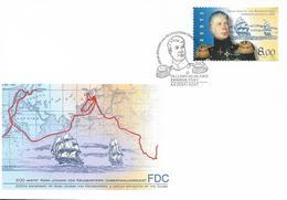 2003 Estland Mi. 466 FDC  200. Jahrestag Des Beginns Der Erdumsegelung Durch Adam Johann Von Krusenstern. - Estonia