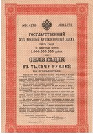 Obligation Ancienne - Russie 1915 à 10 Ans 5 1/2% - Russie