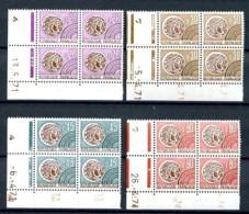 Préos. 130 / 133 - 2ème. Série Monnaie Gauloise - 4 Blocs De 4 CDF Datés - Neufs N** - Très Beaux. - Coins Datés
