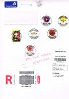 Dänemark - Bedarfsbrief Marken 1937, 1942 - 46, Rosen, Roses, Flowers - Covers & Documents