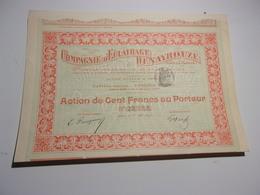 COMPAGNIE D'ECLAIRAGE DENAYROUZE Pour La France (1897) - Shareholdings