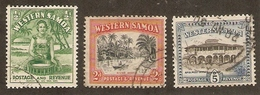 WESTERN SAMOA 1944 - 1949 MULTIPLE 'NZ' And STAR WATERMARK STAMPS ½d, 2d And 5d SG 200, 202 + 205 FINE USED Cat £30 - Samoa