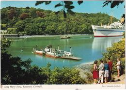 King Harry Reach - Car Ferry & Cruise Ship - King Harry Ferry, Falmouth, Cornwall - John Hinde - TRIUMPH SPITFIRE - Falmouth