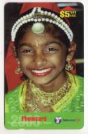 FIDJI Ref MVCARDS FIJ-148 CHILDREN OF FIJI INDIAN GIRL 5$ Date 1999 - Fidji