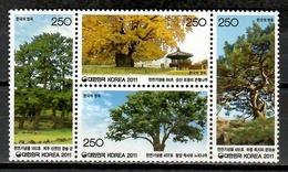 Korea South 2011 Corea / Trees MNH Árboles Bäume Arbres / Cu10319  32 - Árboles