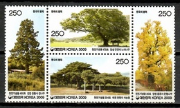 Korea South 2009 Corea / Trees MNH Árboles Bäume Arbres / Cu10320  32 - Árboles