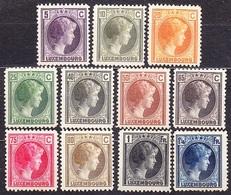 LUXEMBURG 1926, COMPLETE SET, UNUSED, NO GUM. Michel 166-176. DUCHESS CHARLOTTE. Condition, See The Scans. - 1926-39 Charlotte Rechtsprofil