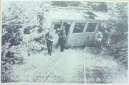 Bouvignies La Jonction Déraillement Du Train (Reproduction - Photo) - Ath