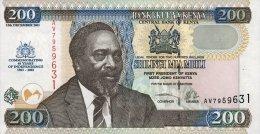 Kenya 200 Shilingi 2003 Pick 46 UNC - Kenya