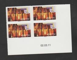 """FRANCE / 2011 / Y&T N° AA 562A ** : """"Art Gothique"""" : Sainte-Chapelle - Paris (TVP LP De Feuille) X 4 - Coin Daté - Coins Datés"""