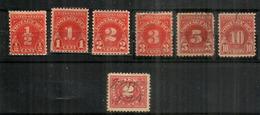 Postage Due Stamps Year 1930. Scott Nr J69-J74. Oblitérés, Bonne Qualité.  Côte $ 12,00 - Usados