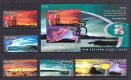 New Zealand 1999 Scenic Skies Set Of 6 + Australia 99 Minisheet Used - New Zealand