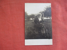 RPPC  Baby In Chair Outside   Ref 3108 - Other