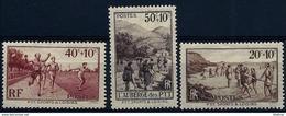 "FR YT 345 à 347 "" Oeuvres Sociales Et Sportives Des PTT "" 1937 Neuf** - France"