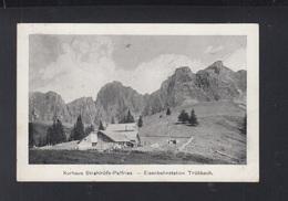 Schweiz AK Kurhaus Strahlrüfe-Palfries Eisenbahnstation Trübbach 1911 - SG St. Gallen