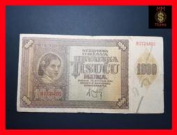 CROATIA 1.000  1000 Kuna 26.5.1941  VF - Croatie