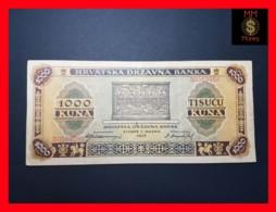 CROATIA 1.000 1000 Kuna  1.9.1943  P. 12  VF - Croatie