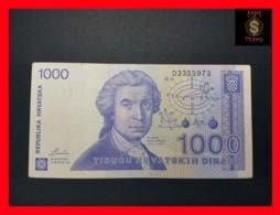 CROATIA 1.000 1000 Dinara 8.10.1991  P. 22 VF - Croatie