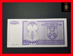 CROATIA 5.000.000.000 Dinara 1993 P. R 18 UNC No Serial - Croatia