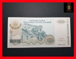 CROATIA 100.000.000 Dinara 1993 P.  R 25  UNC - Croatia