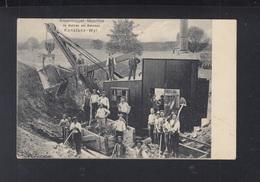 Schweiz AK Riesenbagger Maschine Bahnbau Konstanz-Wyl 1910 - Sonstige