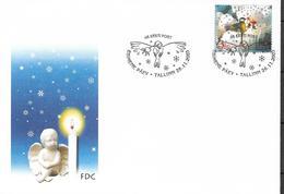 2003 Estland Mi. 475-6 FDC  Weihnachten - Estonia